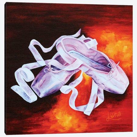 Prima Ballerina Canvas Print #LVE86} by Luna Vermeulen Art Print