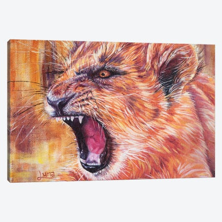 Roary Canvas Print #LVE94} by Luna Vermeulen Canvas Artwork