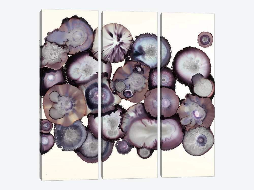 Eggplant by Laura Van Horne 3-piece Canvas Wall Art