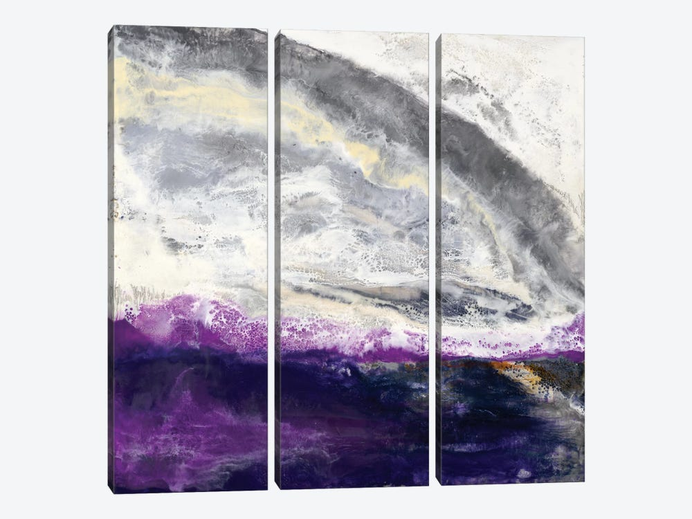 Purple Hill by Laura Van Horne 3-piece Canvas Artwork