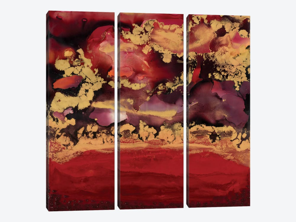 Redscape by Laura Van Horne 3-piece Canvas Art Print