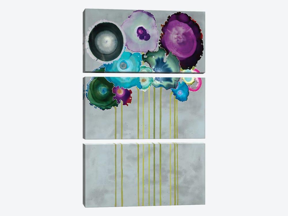 Silver Bouquet by Laura Van Horne 3-piece Canvas Artwork