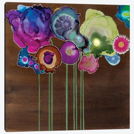 Spring Bouquet II 3-Piece Canvas #LVH23} by Laura Van Horne Canvas Art Print