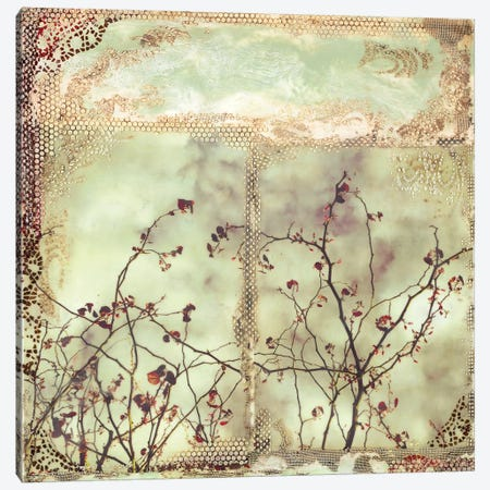 Red Leaf Canvas Print #LVH29} by Laura Van Horne Canvas Art Print