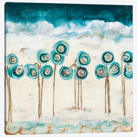 Blue Poppies Canvas Print #LVH2} by Laura Van Horne Canvas Art Print