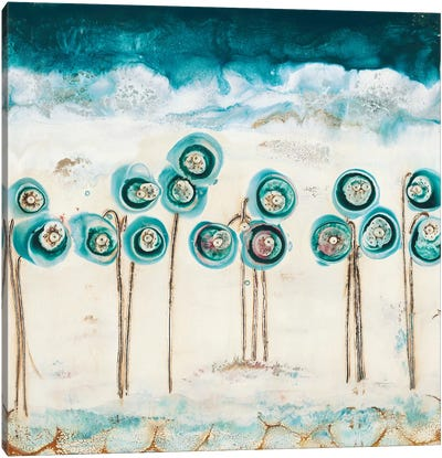 Blue Poppies Canvas Art Print