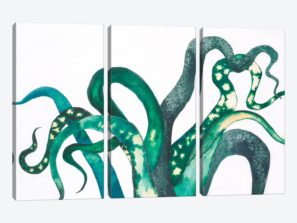 Octo Legs by Laura Van Horne 3-piece Canvas Wall Art