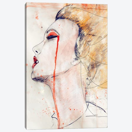 Orange Velvet Canvas Print #LVI19} by Leigh Viner Canvas Print