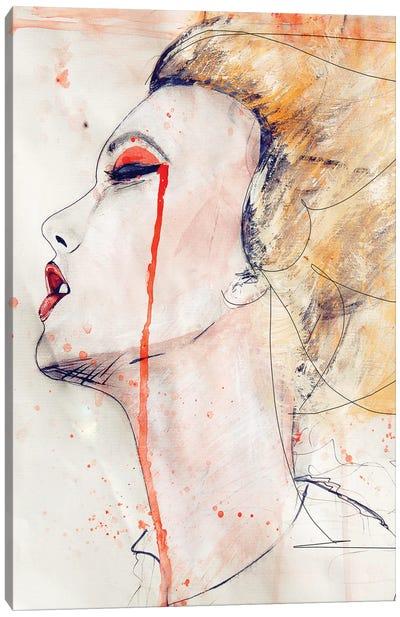 Orange Velvet Canvas Art Print