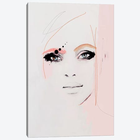 Kiss Kiss Canvas Print #LVI27} by Leigh Viner Art Print