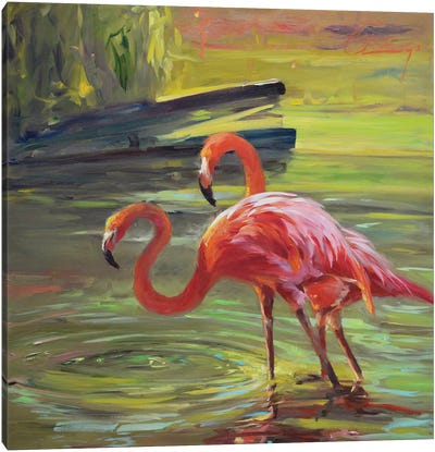 Flamingo III Canvas Art Print