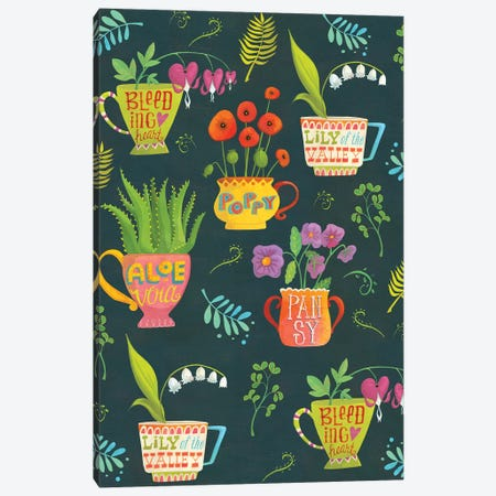 Botanical Teatime Canvas Print #LWA1} by Laura Watson Canvas Print