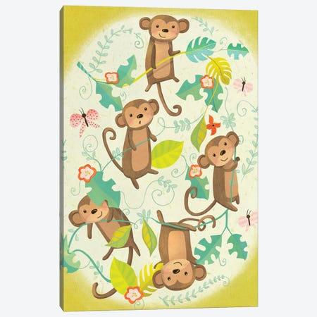 Jungle Baby II Canvas Print #LWA3} by Laura Watson Art Print