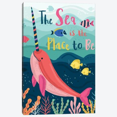 Coastal Nautical Under The Sea I Canvas Print #LWB53} by Lisa Whitebutton Art Print