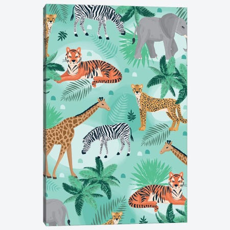 Everyday Jungle Savannah I Canvas Print #LWB60} by Lisa Whitebutton Canvas Artwork