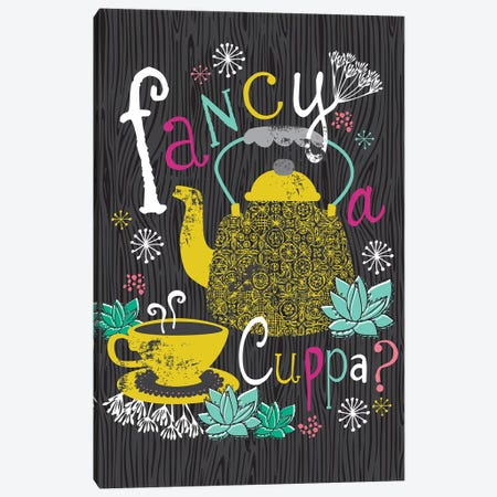 Fancy A Cuppa? Canvas Print #LWB7} by Lisa Whitebutton Canvas Print