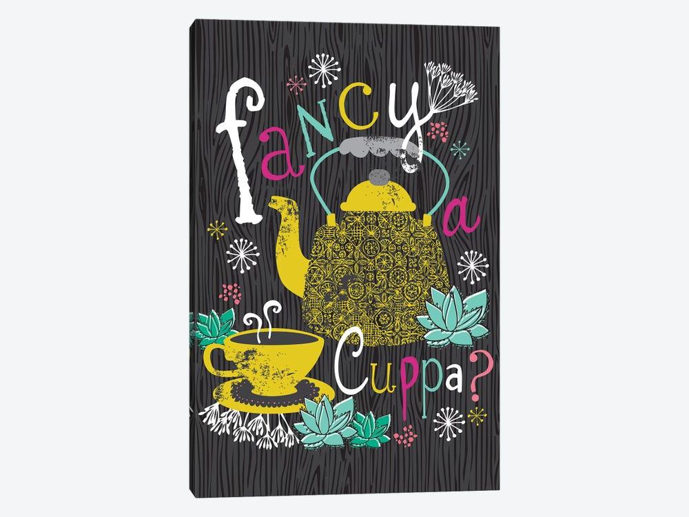 Fancy A Cuppa? by Lisa Whitebutton 1-piece Canvas Art Print