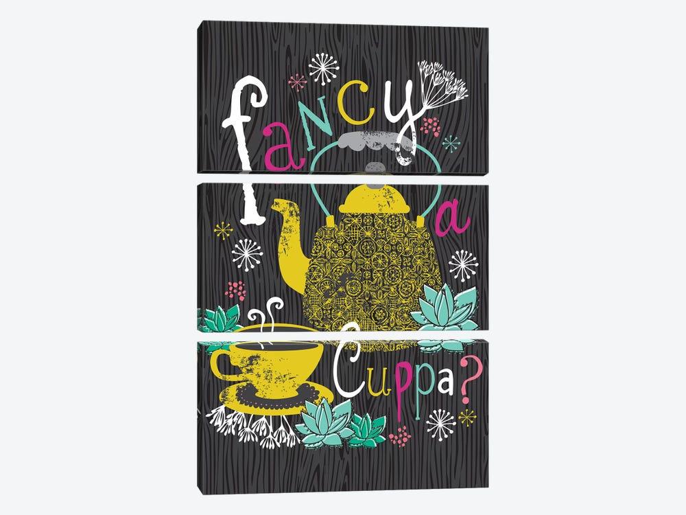 Fancy A Cuppa? by Lisa Whitebutton 3-piece Art Print
