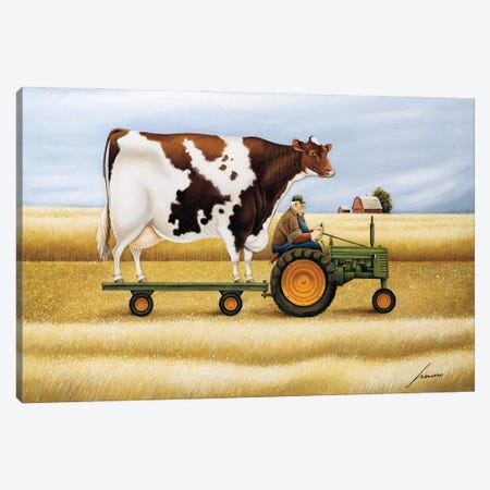 Ride To The Fair Canvas Print #LWE102} by Lowell Herrero Art Print