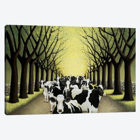Road Block Canvas Print #LWE103} by Lowell Herrero Art Print