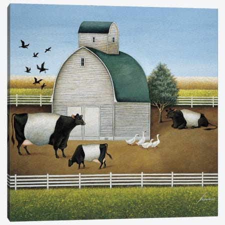 Beltie's Dairy Canvas Print #LWE10} by Lowell Herrero Canvas Artwork