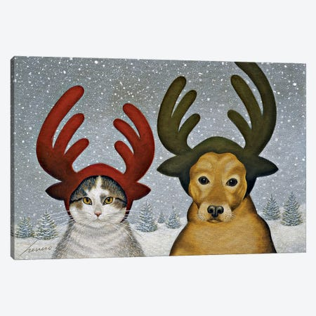 Squeeky Ashby & Lucy Zirbel Canvas Print #LWE121} by Lowell Herrero Canvas Print