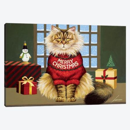 Squeekys Christmas Canvas Print #LWE123} by Lowell Herrero Art Print