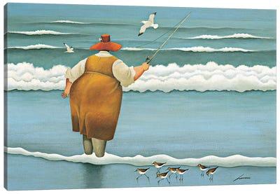 Surfside Fishing Canvas Art Print