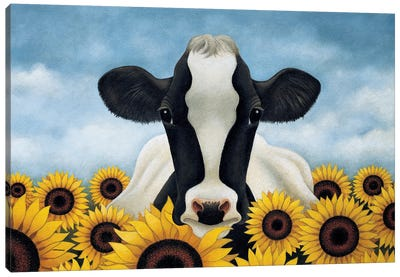 Surrounded By Sunflowers Canvas Art Print