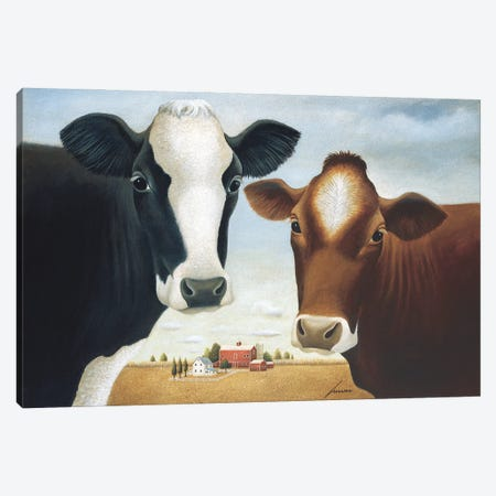 The Two Of Us Canvas Print #LWE132} by Lowell Herrero Canvas Artwork