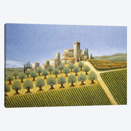 Tuscan Hillside With Olive Trees Canvas Print #LWE139} by Lowell Herrero Canvas Art