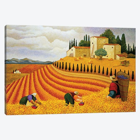 Village Harvest Canvas Print #LWE141} by Lowell Herrero Art Print