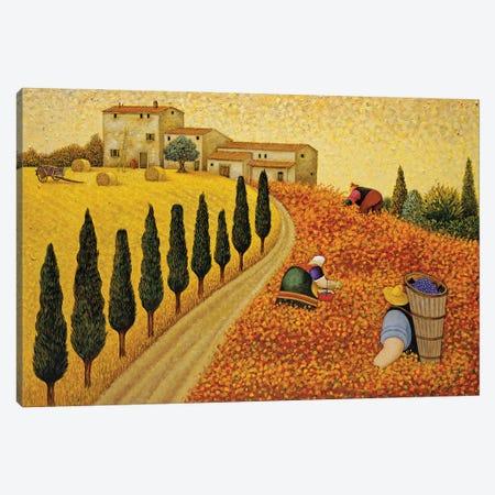 Village Landscape Canvas Print #LWE142} by Lowell Herrero Art Print