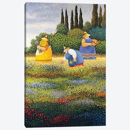 Wildflowers Canvas Print #LWE146} by Lowell Herrero Canvas Artwork