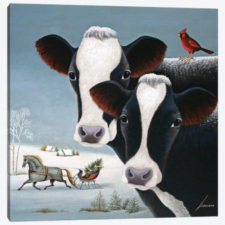 Winter Watch Canvas Print #LWE150} by Lowell Herrero Canvas Wall Art