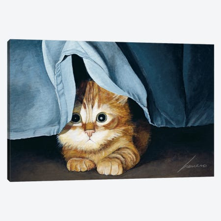 Clara Canvas Print #LWE20} by Lowell Herrero Art Print