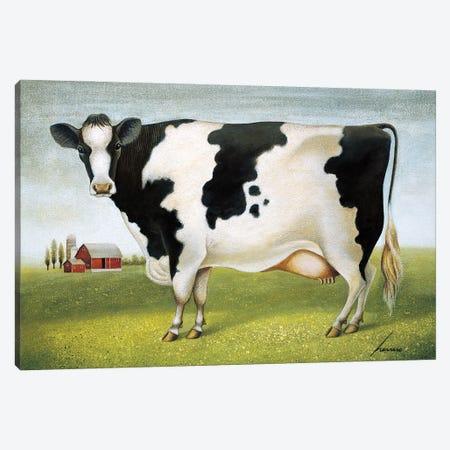 Classic Cow Canvas Print #LWE21} by Lowell Herrero Canvas Art Print