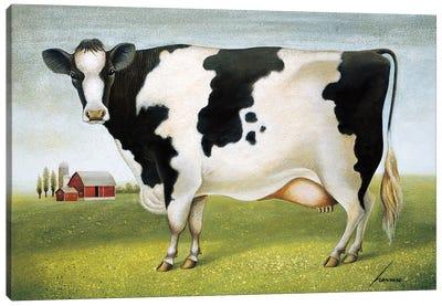 Classic Cow Canvas Art Print