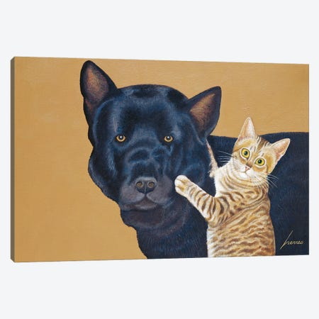 Cody And Caby Price Canvas Print #LWE22} by Lowell Herrero Canvas Print