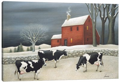 Cows Of Hoxie House Canvas Art Print