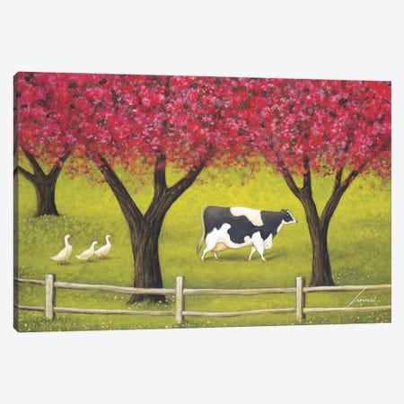 Crabapples In Bloom Canvas Print #LWE30} by Lowell Herrero Canvas Artwork
