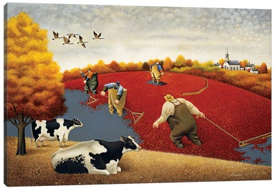 Cranberries And Cows Canvas Art Print
