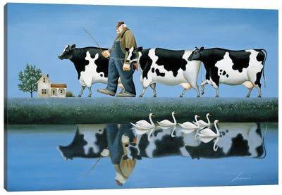 Delta Cows Canvas Art Print