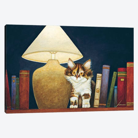 Dizzy Redfield Canvas Print #LWE35} by Lowell Herrero Art Print