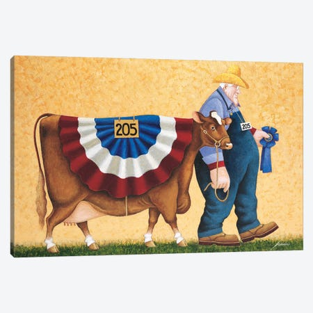 First In Class Canvas Print #LWE45} by Lowell Herrero Canvas Artwork