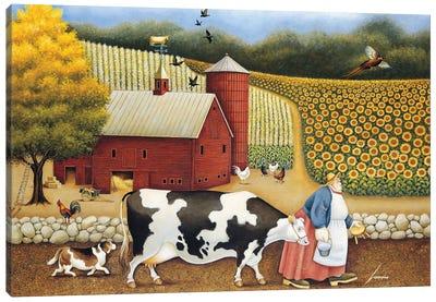 Aunt Sadie's Farm Canvas Art Print