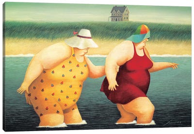 Judy And Marge Canvas Art Print
