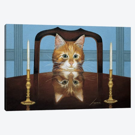 Lord Buffington Candlesticks Canvas Print #LWE73} by Lowell Herrero Canvas Wall Art