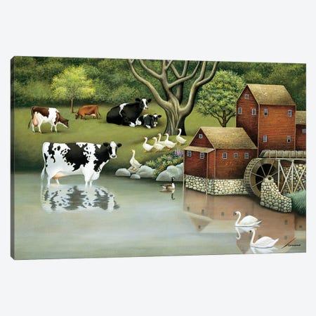 Mill Stream Pond Canvas Print #LWE79} by Lowell Herrero Canvas Art
