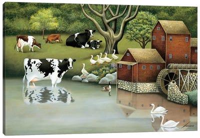 Mill Stream Pond Canvas Art Print